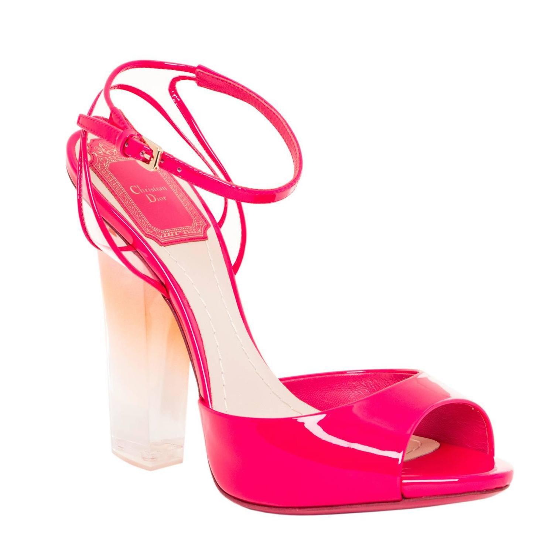 Hot Pink Sandals Heels - Is Heel