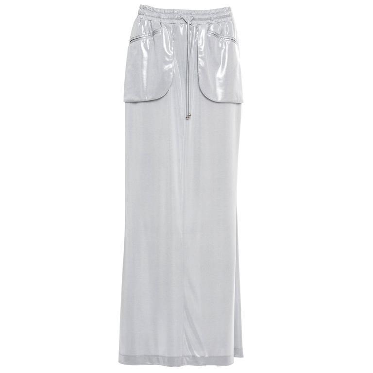 Chanel Silver Skirt Spring