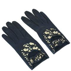 Christian Dior Logo Print Driving Gloves