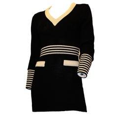 80s Karl Lagerfeld Knit Mini Dress