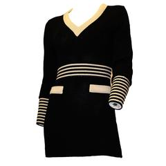 80s Karl Lagerfeld Knit Mini Dress