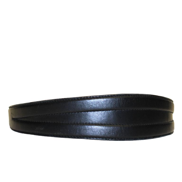 Bluemarine Black Lamb Leather Belt