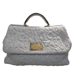 Dolce & Gabbana Miss Sicily white leather bag
