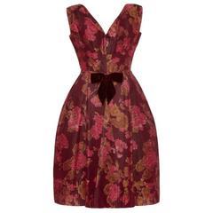 1960's Oscar de la Renta for Elizabeth Arden Silk Floral Dress