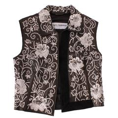Dolce&Gabbana black leather vest