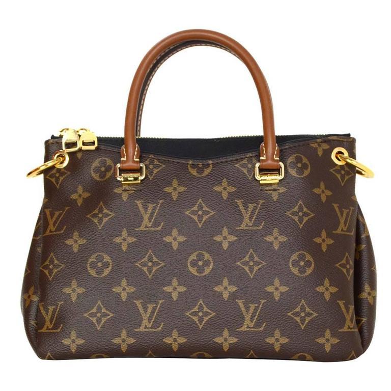 a6d21629881 Louis Vuitton Monogram Canvas & Black Leather Pallas BB Crossbody Bag GHW