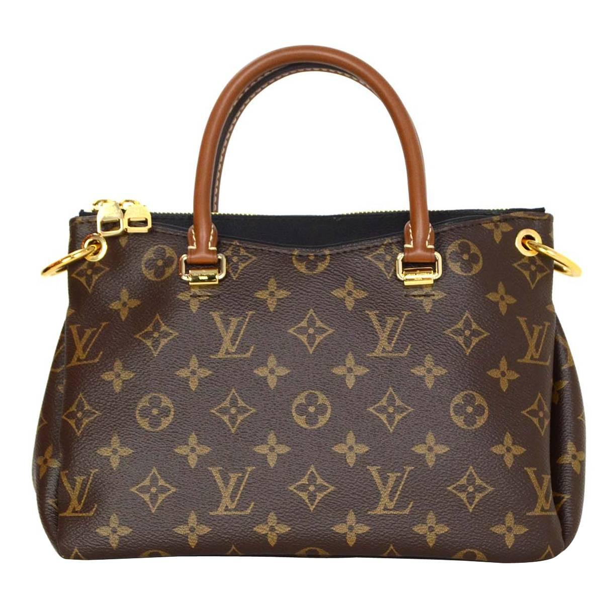 louis vuitton monogram canvas and black leather pallas bb crossbody bag ghw at 1stdibs