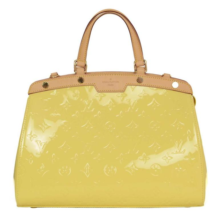 Louis Vuitton Yellow Monogram Vernis Brea MM Bag GHW For Sale at 1stdibs a065068933875