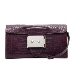 Hermes Amethyst Alligator Goodlock Clutch