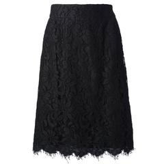 Christian Lacroix from the Suzy Menkes Collection Floral Lace Skirt