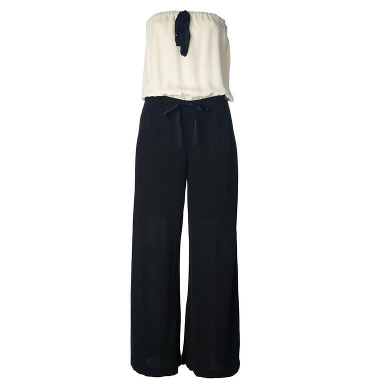 Chanel Vintage Monochrome Jumpsuit