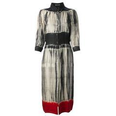 Prada Vintage Tie-dye Print Shirt Dress