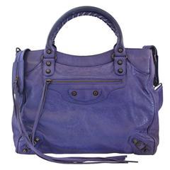 Balenciaga Arena Giant City Purple Handbag in Dust Bag