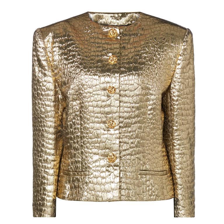 Jean-Louis Scherrer gold jacket, circa 1986