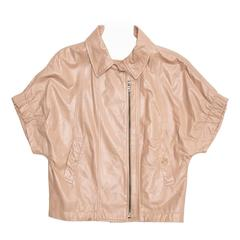 Prada Tan Cropped Leather Jacket