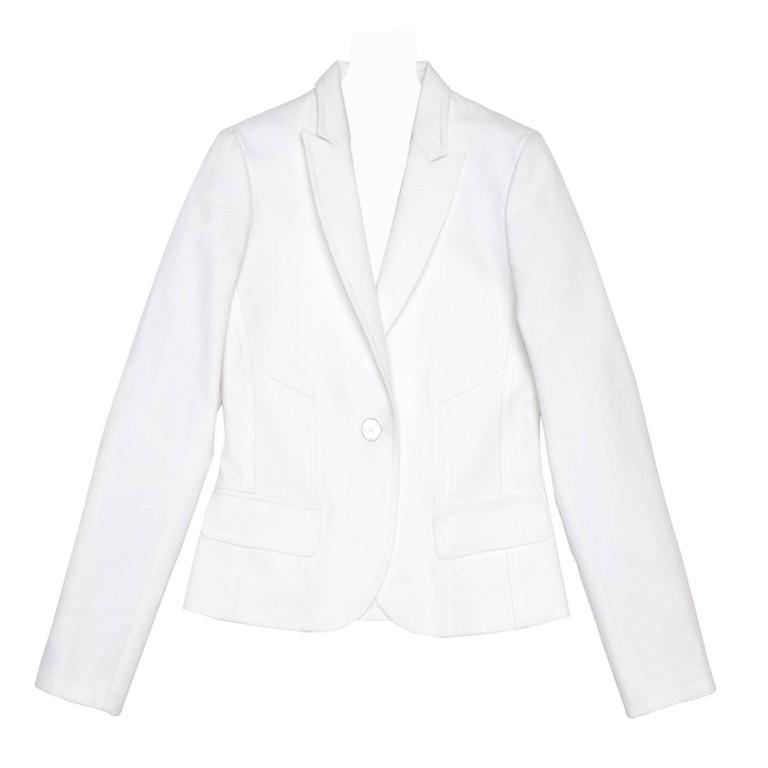 Louis Vuitton White Cotton Piquet Blazer