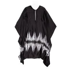 Thomas Wylde Black & White Silk Kaftan