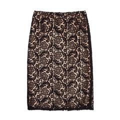 Prada Black Lace & Nude Slip Skirt