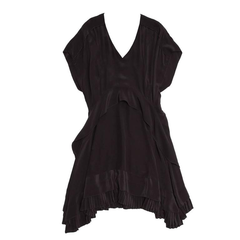 Balenciaga Black Silk Short Dress 1