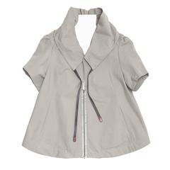 Marni Grey Cropped Trapeze Jacket