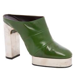Bally By Pancaldi Leather Platform Shoes, Circa 1970's