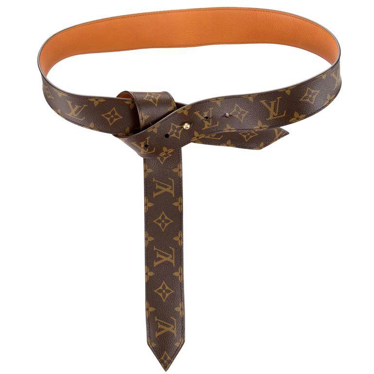 185c0dd7bbe1 Louis Vuitton Rare Monogram Canvas Gold Hardware Sash Waist Belt For Sale