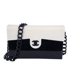 Rare Vintage Chanel Plastic 2.55 Classic Flap Bag