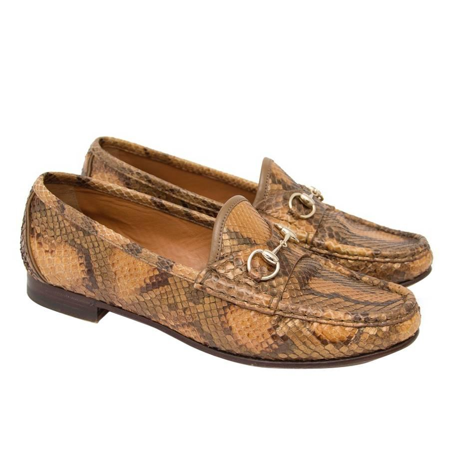 Gucci Python Horsebit Loafers at 1stDibs