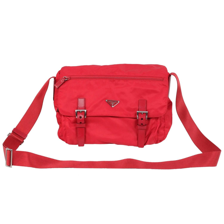 44eda02be937 PRADA Red VELA TESSUTO Nylon MESSENGER CrossBody SHOULDER BAG at 1stdibs