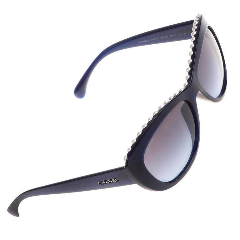 TRES CHIC Chanel Pearl Inset Sunglasses 1