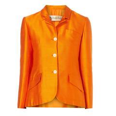 Lanvin orange jacket, circa 1965