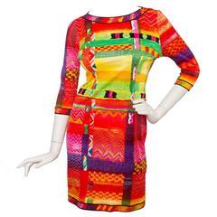 1990s Leonard Cotton Dress