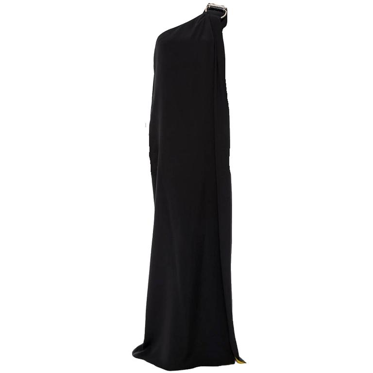 Stunning Gucci Asymmetric Black Evening Gown