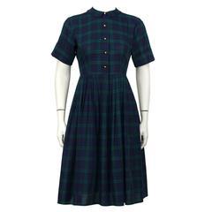 1950's Best & Co. Plaid Shirtwaist Dress