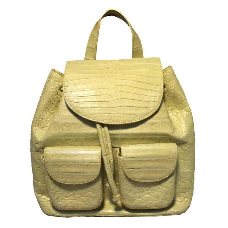 1stdibs Nancy Gonzalez Yellow Crocodile Shoulder Handbag sXJK2