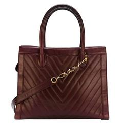 Chanel Bordeaux Lamb Skin Tote Bag