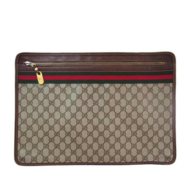 Gucci Monogram Logo Bag Clutch Suitable Laptop Case 1970s