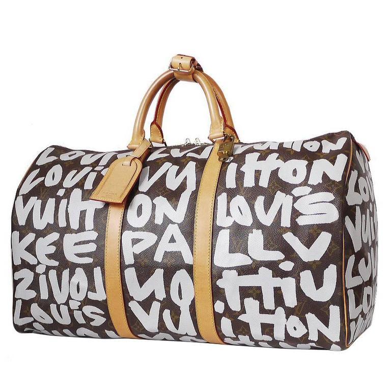 Louis Vuitton Monogram Graffiti Keepall 50 Travel Bag Rare at 1stdibs 364d196ce49bf