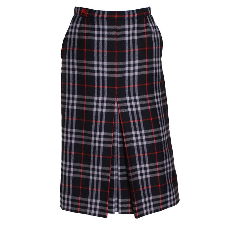 Burberry check skirt, 1980s