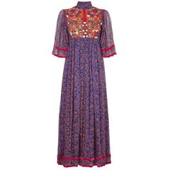 Late 1960s Couture Thea Porter 'Faye' Dress