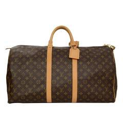 Louis Vuitton Monogram Keepall 55 Luggage GHW