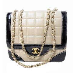 Chanel Quilted Leather and Patent Bag