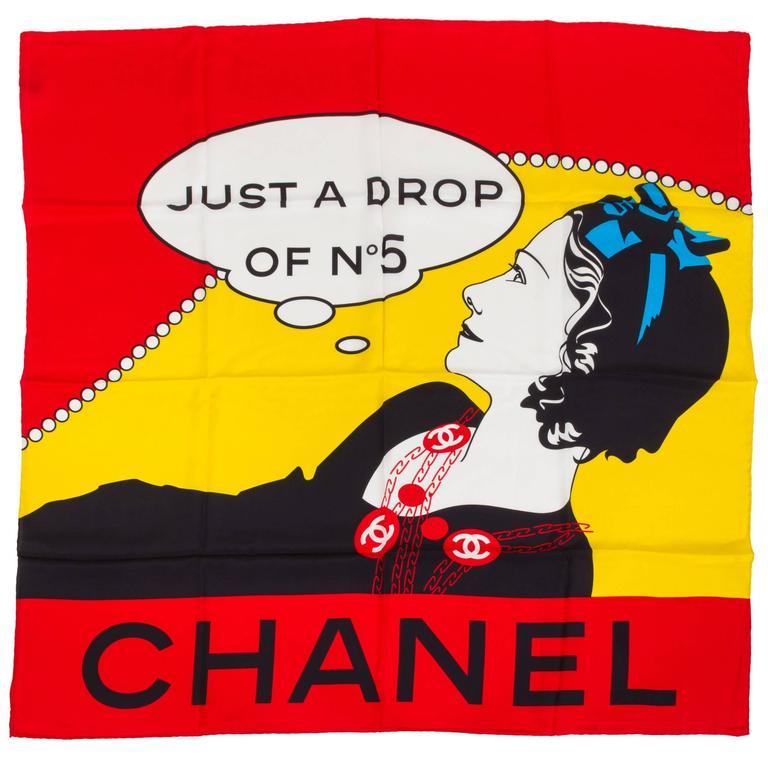 Chanel Coco Pop Art Silk Scarf 1