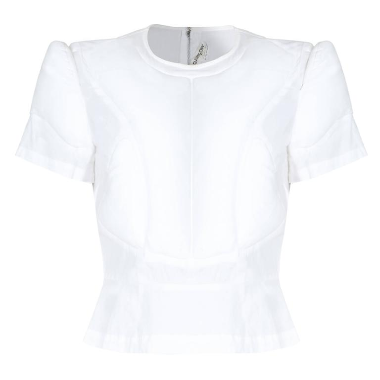 Comme des Garcons White Padded Top