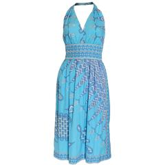 Emilio Pucci Cotton Halterneck Dress