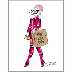 Joy in Tom Ford at Bloomingdale's Mouse Couture Sketch by Roberto Rosas