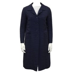 1960's Nina Ricci Navy & White Dress and Coat Ensemble