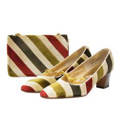 1960's Joseph Larose Velvet Bag and Shoe Set