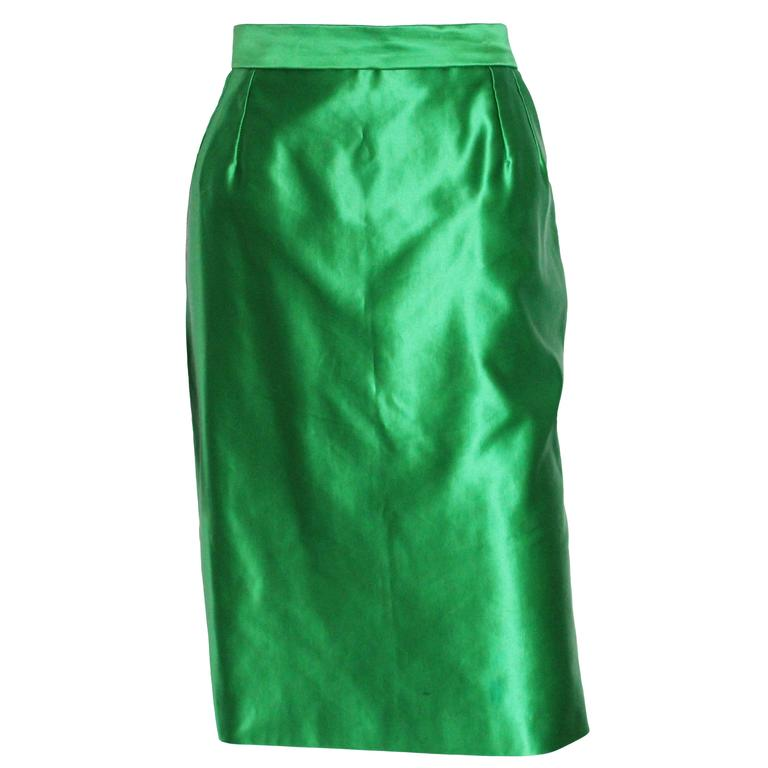 Yves Saint Laurent Variation Cotton and Silk mix Skirt For Sale