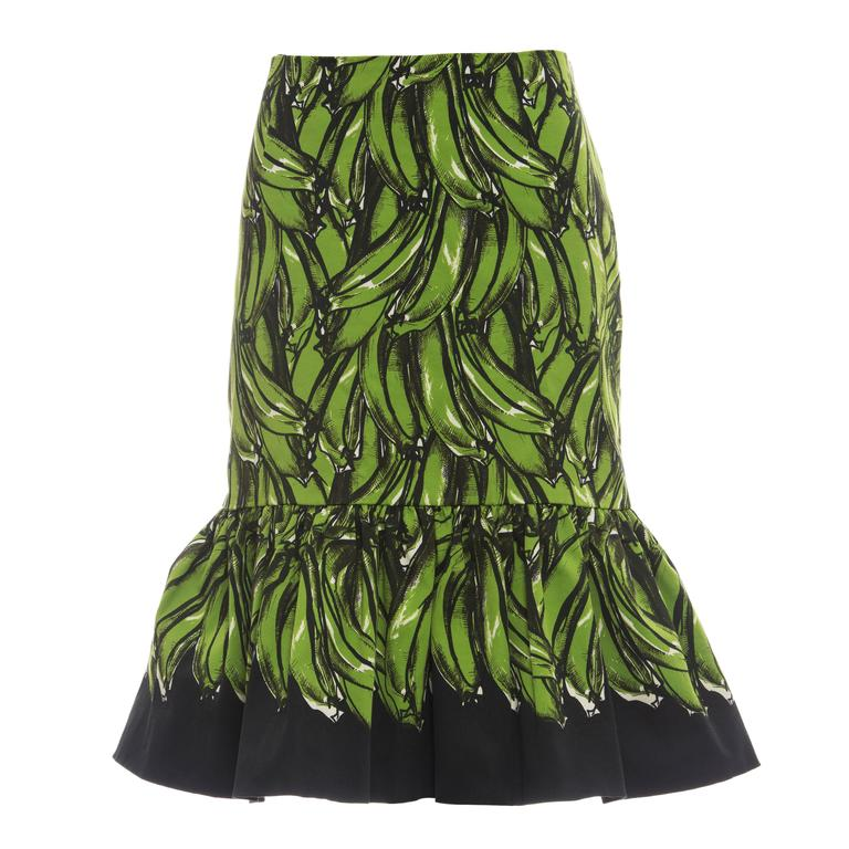 Prada Banana Print Skirt, Spring 2011 For Sale